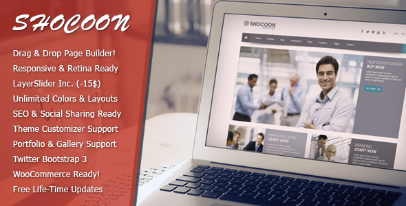 ThemeForest Shocoon Responsive Business & Shop WP Theme 6024267