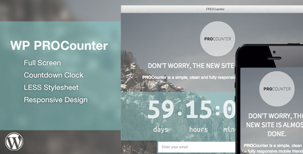 CodeCanyon WP PROCount Responsive Countdown Landing Page 5865395