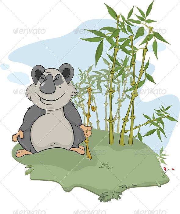 GraphicRiver Panda and Bamboo Wood 6024817