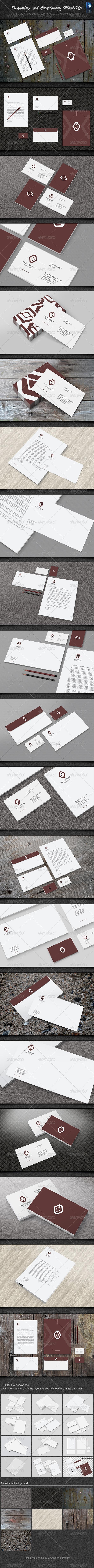 GraphicRiver Stationery Branding Mock-Up 6000978