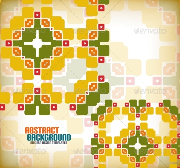 Vector Geometric Vintage Retro Background