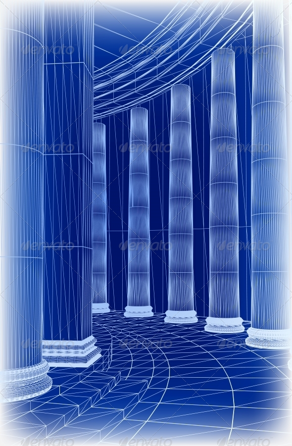 GraphicRiver Column Architecture Vector 6025668