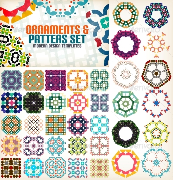 GraphicRiver Set of Vintage Geometric Patterns for Backgrounds 6025711