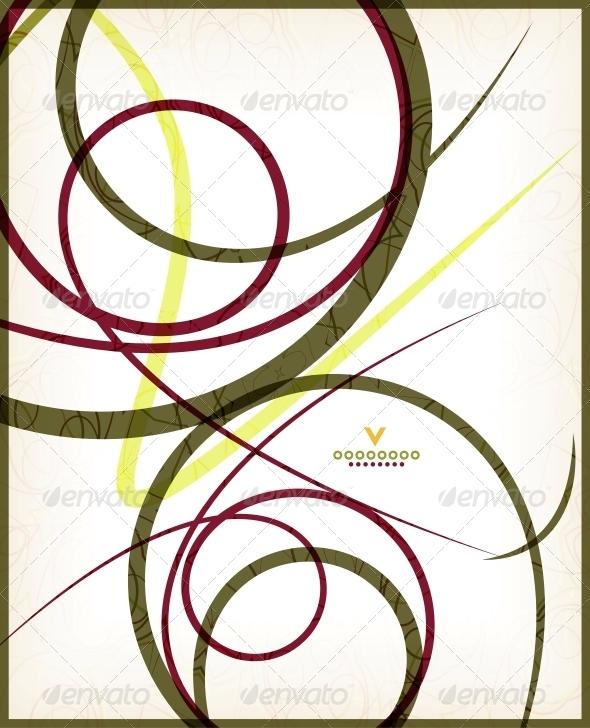 GraphicRiver Beautiful Vintage Retro Swirls 6025716