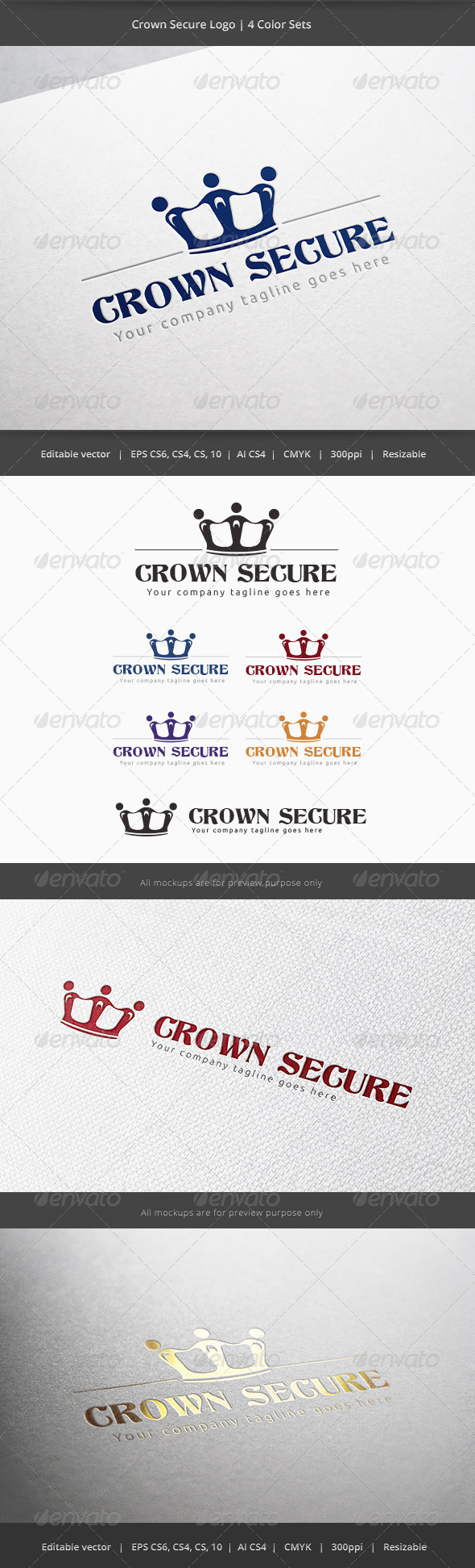 GraphicRiver Crown Secure Logo 6025888
