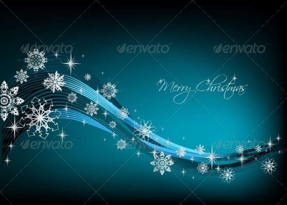 GraphicRiver Snowflake Blue Background Vector 6026538