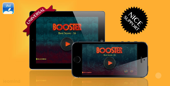 CodeCanyon Booster UIKit Universal iOS Game with iAd 6026547