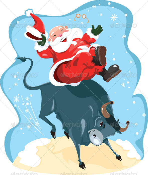 GraphicRiver Santa Claus on Rodeo 6026580