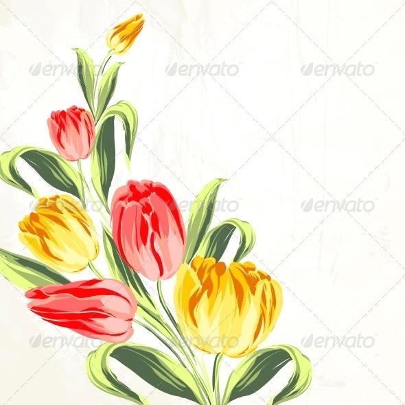 GraphicRiver Tulip Bouquet 6026609