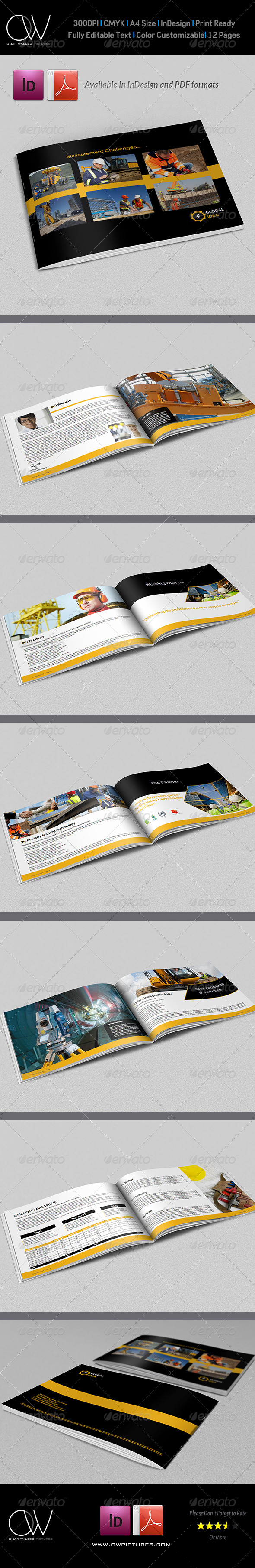 GraphicRiver Construction Industry Brochure Template 12 Pages 6026717