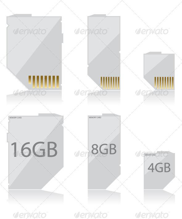 GraphicRiver Memory Card White 6027207