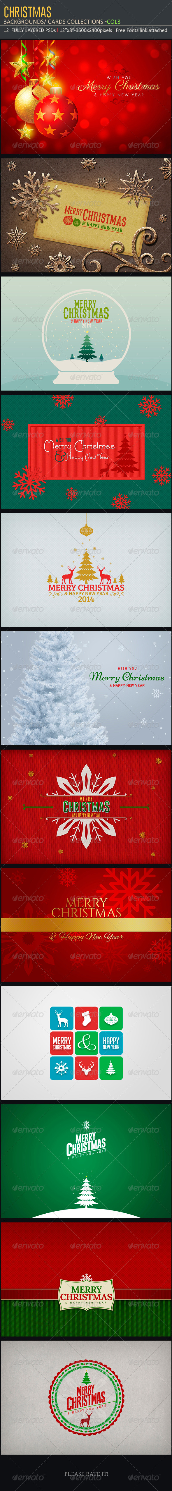 GraphicRiver Christmas Backgrounds-Cards Col3 6027313