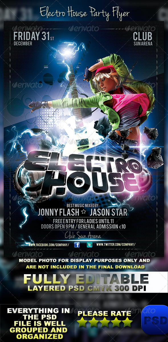 GraphicRiver Electro House Party Flyer 6027758