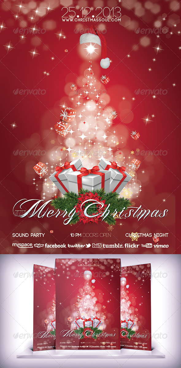 GraphicRiver Christmas Party Flyer 5988865