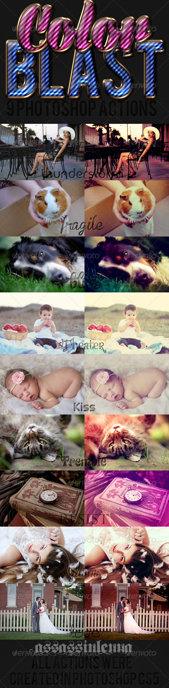 GraphicRiver Color Blast Photoshop Actions 6029184