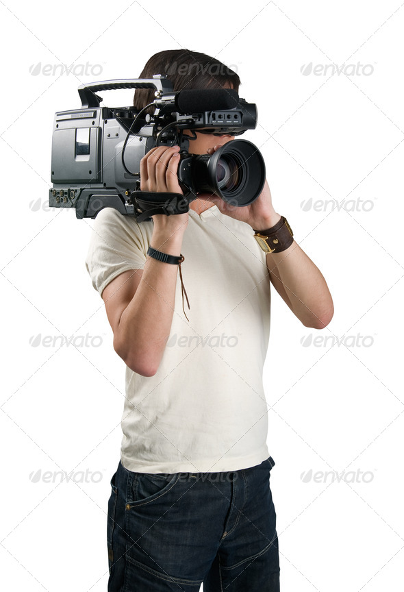 PhotoDune Cameraman isolated on white background 629629
