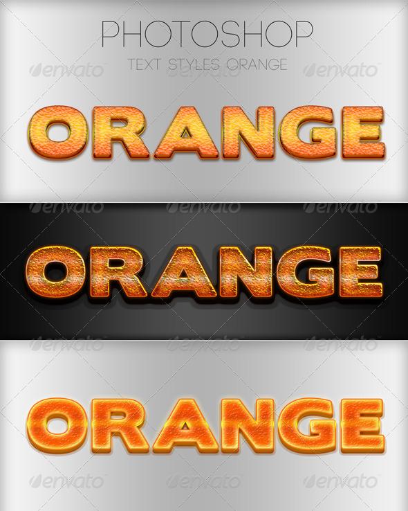 GraphicRiver Orange Photoshop Style 6029493