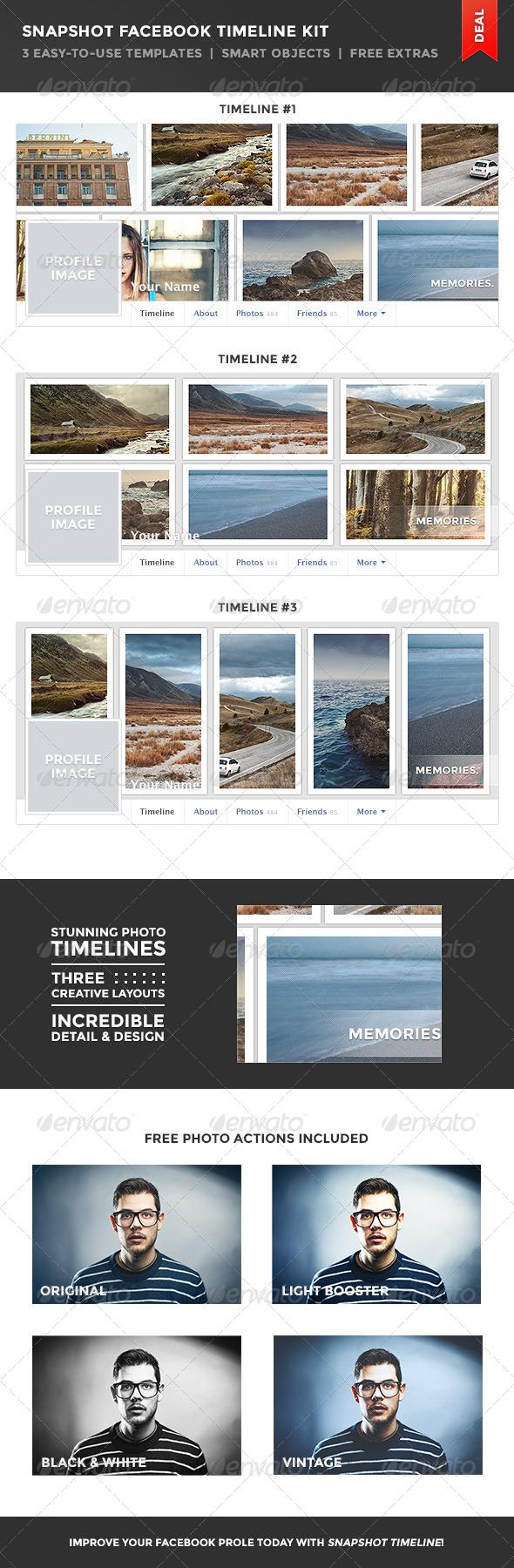 GraphicRiver Snapshot Facebook Timeline Kit 6023916