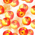 Watercolor seamless background with apples - PhotoDune Item for Sale