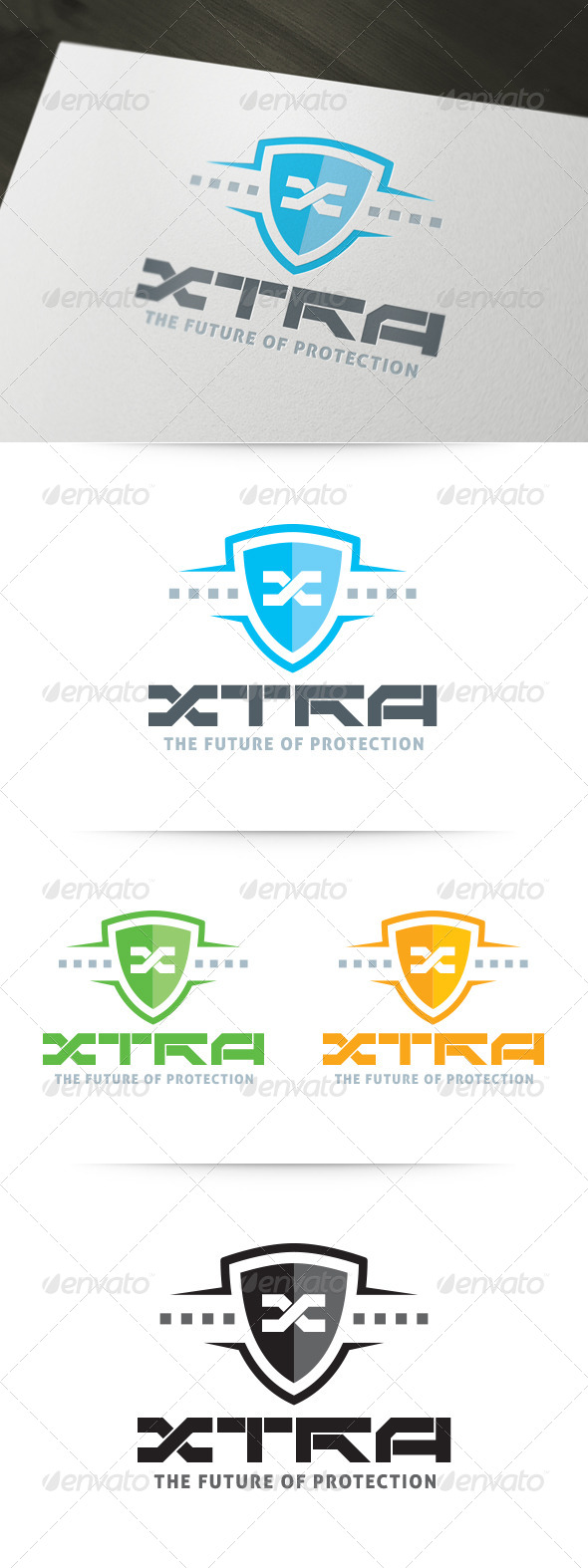 GraphicRiver XTRA Future Protection Logo 6030056