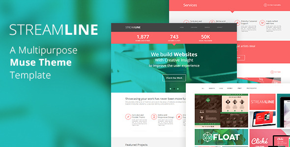 StreamLine - A Multipurpose Muse Theme