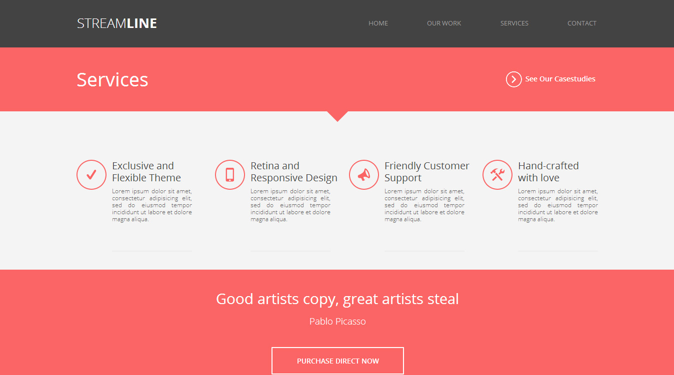 StreamLine - A Multipurpose Muse Template