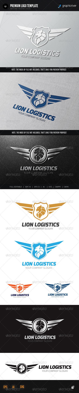 GraphicRiver Lion Logistics Logo 6030535