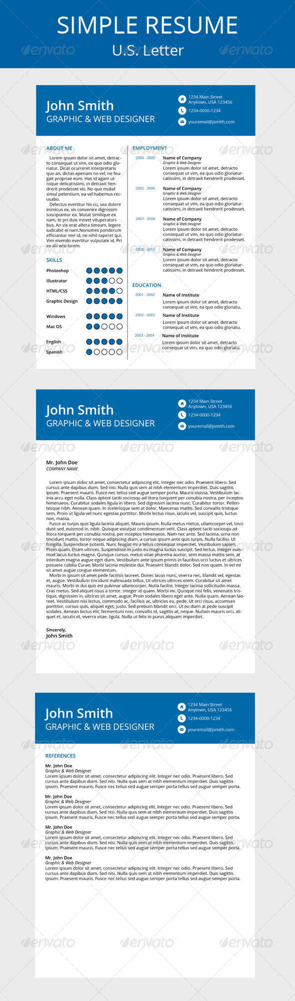 GraphicRiver Simple Resume 5962911