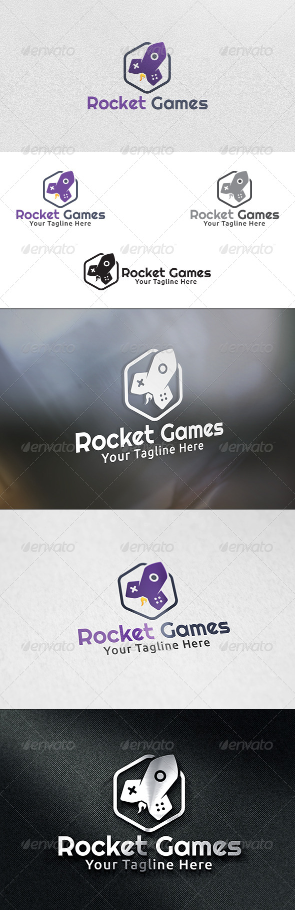 GraphicRiver Rocket Games Logo Template 6030702