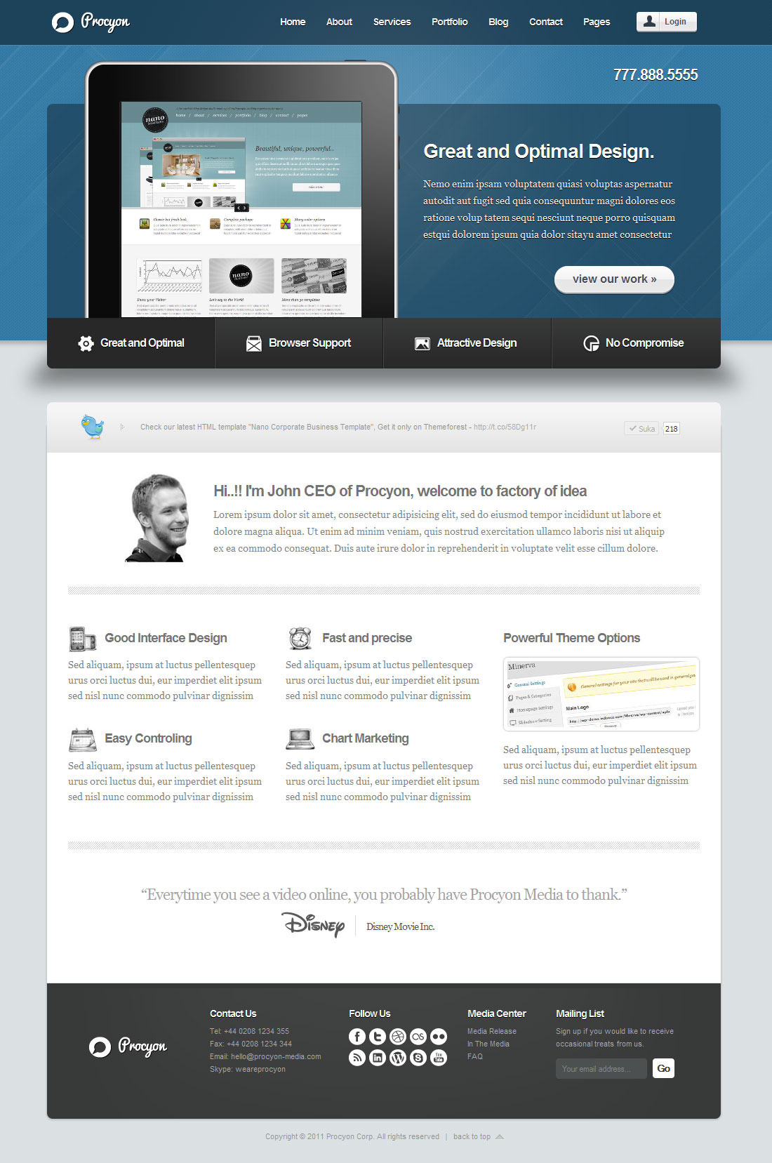 Procyon - Corporate Business Wordpress Theme 6