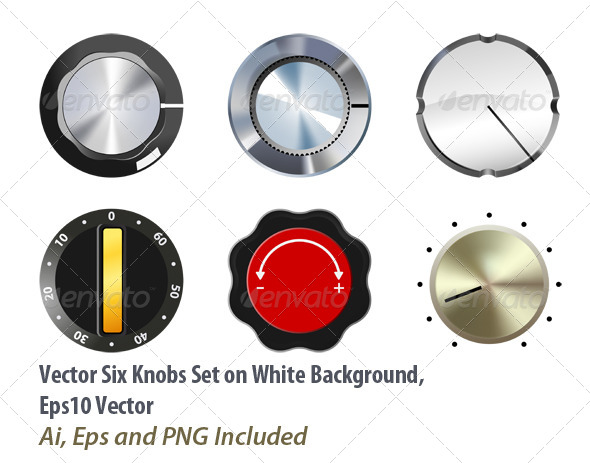 GraphicRiver Knobs Set 6031180