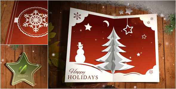 christmas card pop up by 3eka videohive. Black Bedroom Furniture Sets. Home Design Ideas