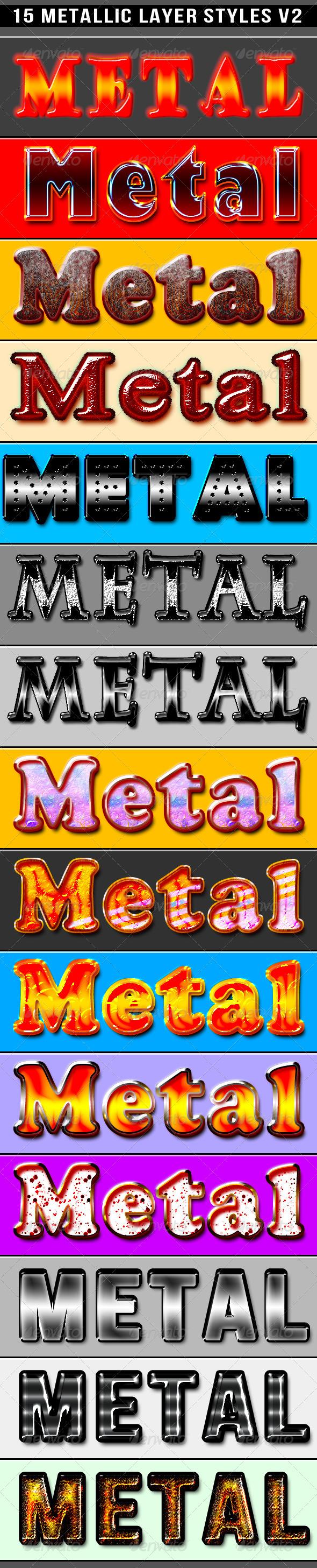 GraphicRiver 15 Metallic Styles 6031404