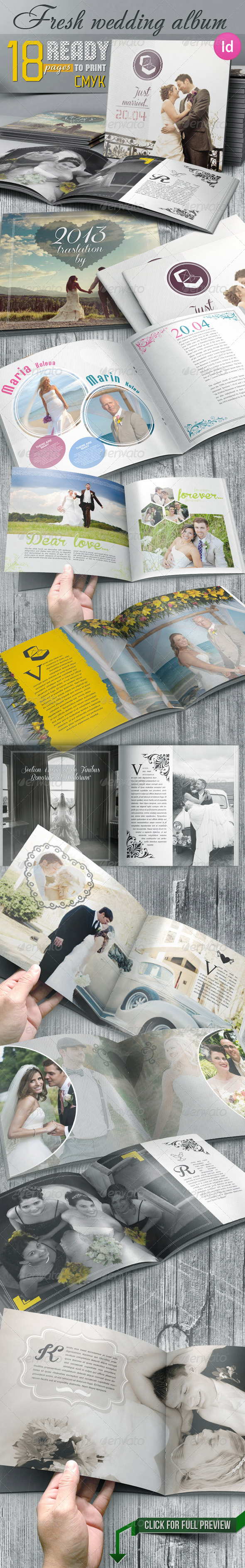 GraphicRiver Fresh Wedding Photo Album 6031512