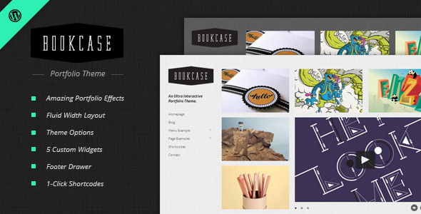 ThemeForest Bookcase Wordpress Portfolio Theme 630145