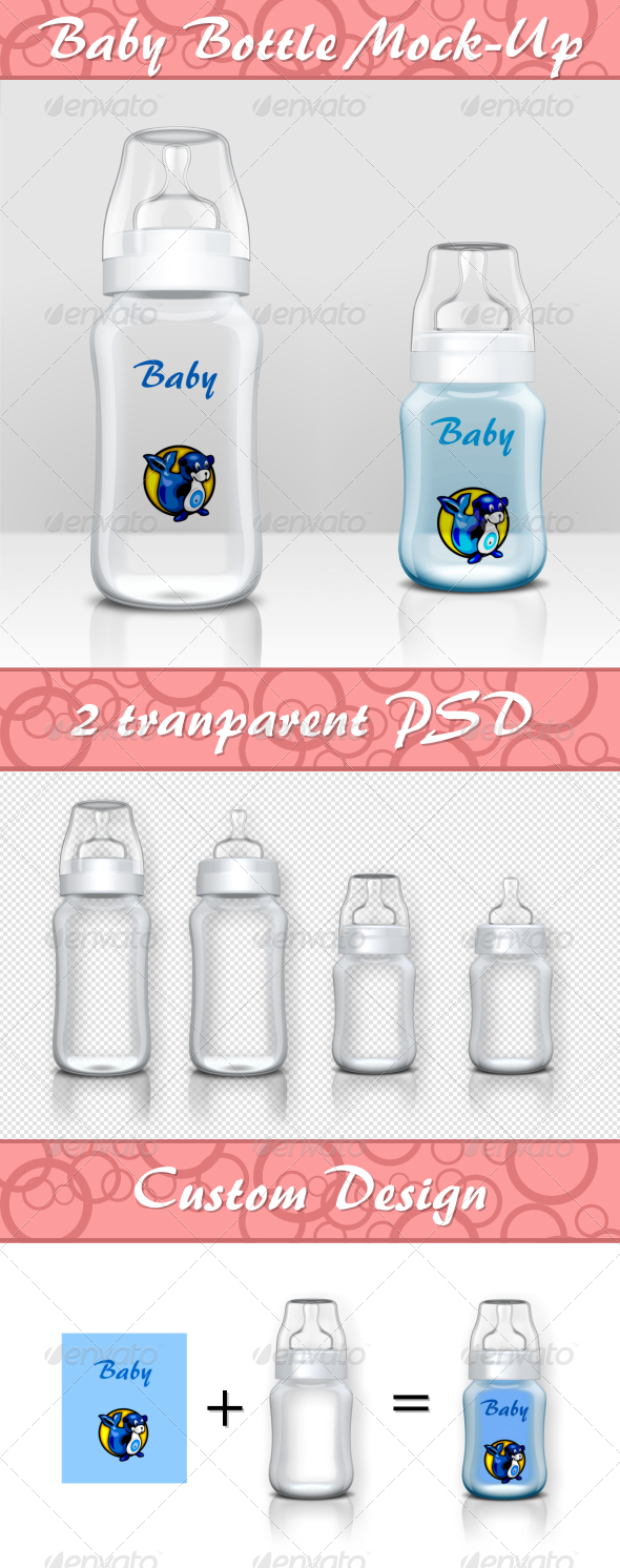 GraphicRiver Baby Bottle Mock-Up 6032179