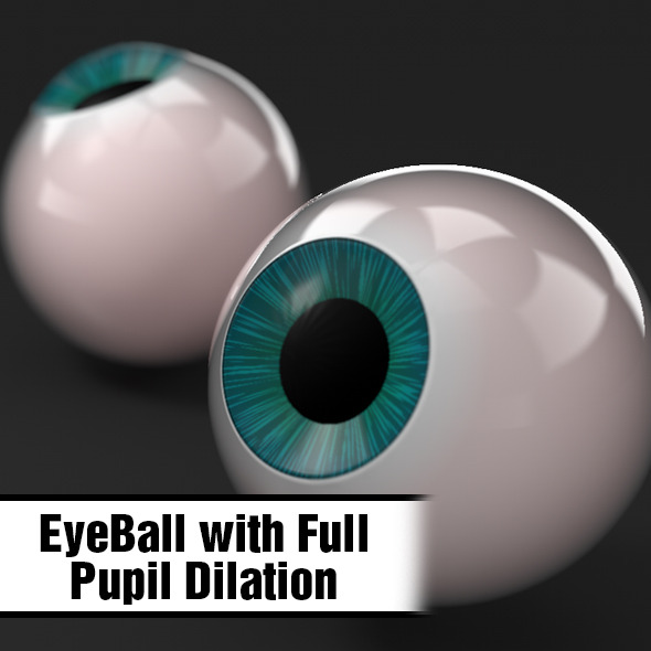 3DOcean EyeBall w Pupil Dilation 6033066