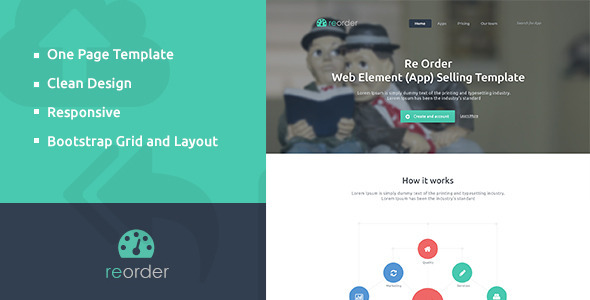 ThemeForest Reorder Parallax One-Page HTML Template 5991576