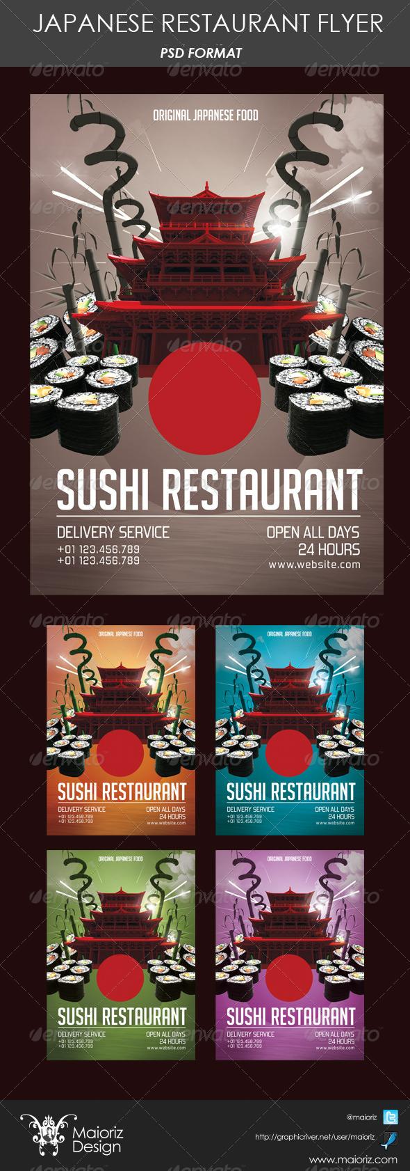 Japanese Restaurant Flyer