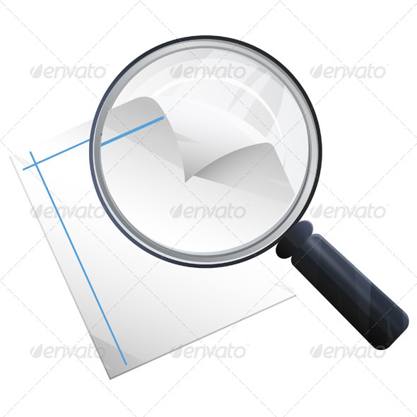 GraphicRiver Magnifying Glass Illustration 6033303