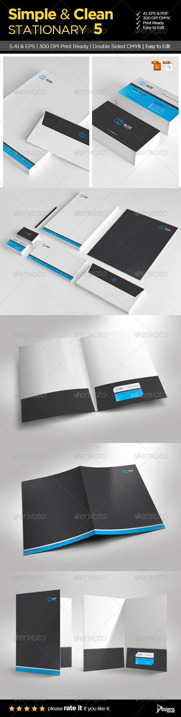 Simple and Clean Stationary 5 - Stationery Print Templates
