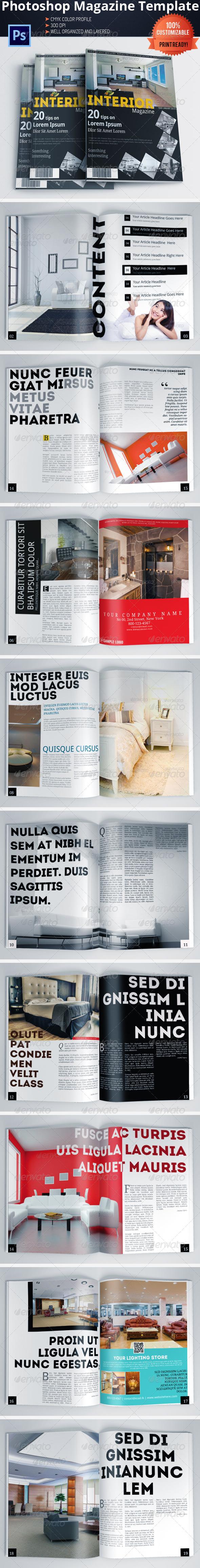 GraphicRiver Architecture and Interior Design Magazine Brochure 6033399