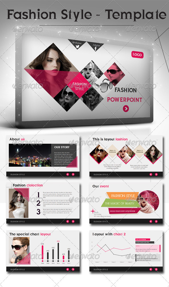 fashion style powerpoint presentation template graphicriver