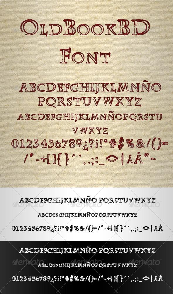 GraphicRiver OldBookBD Blank Font 4065466