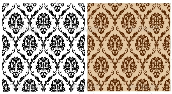 GraphicRiver Seamless Floral Damask Pattern 6033497