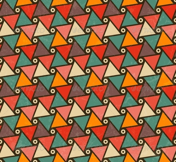 GraphicRiver Retro Pattern of Triangle Shapes 6033559