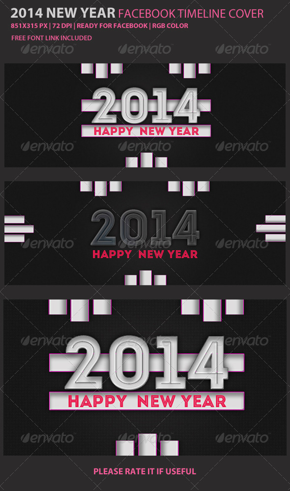 GraphicRiver New Year Facebook Cover 6033610