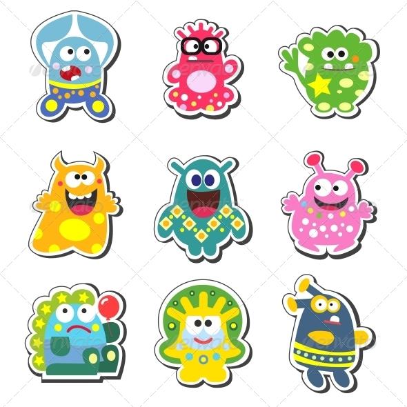 GraphicRiver Cartoon Monsters Set 6033665