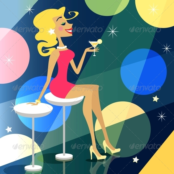 GraphicRiver Girl in Bar 6033669