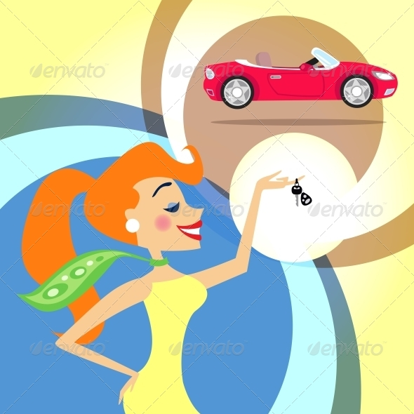 GraphicRiver Woman with Car Keys 6033670